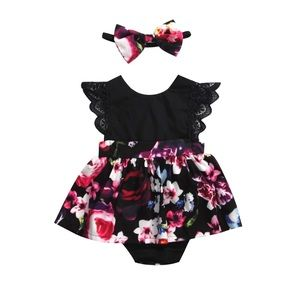 Other - Baby Girls Dress Romper Set
